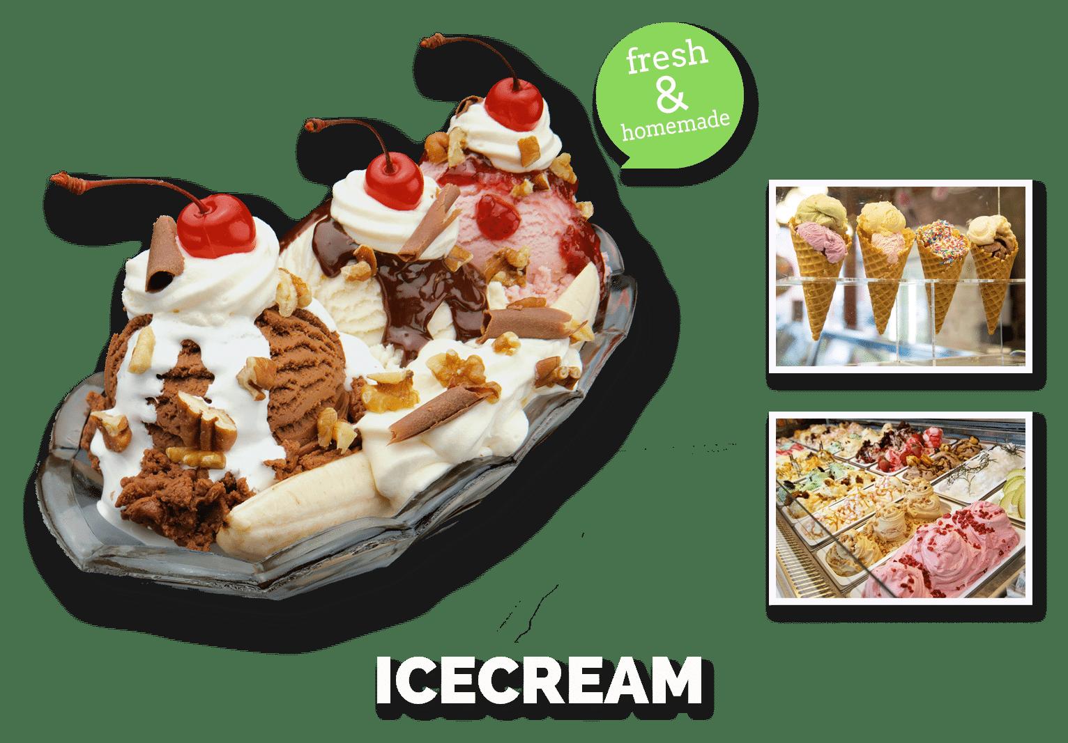 ice cream, ijs fresh and homemade